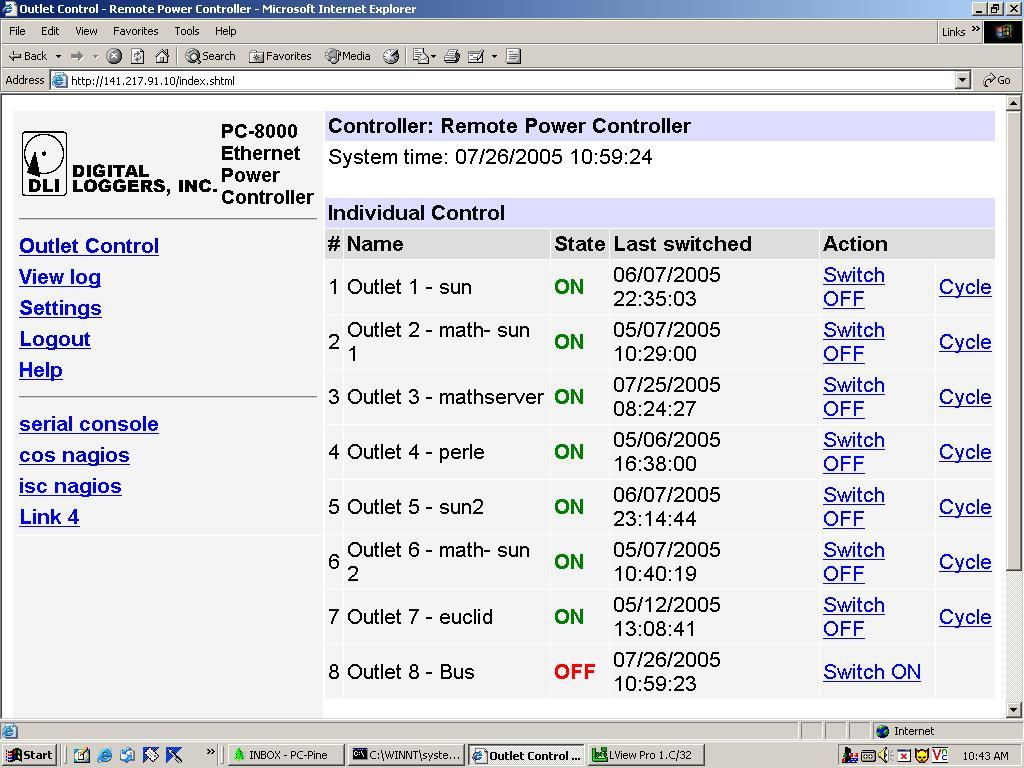 digital loggers web power switch manual